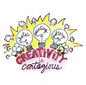 creativity is contagious paint