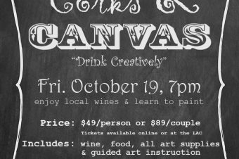 CORKS & CANVAS: Wine & Paint Night