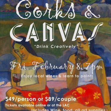 CORKS & CANVAS: wine & paint night