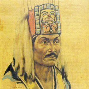 """INDIANS IN CANADA: BELLA COOLA by A. Sherriff Scott, 10""""x12"""""""