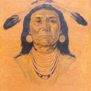 "INDIANS IN CANADA: OJIBWA by A. Sherriff Scott, 10""x12"""