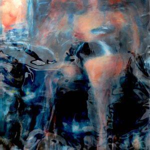 "#12 BLACK TOILETTE, 3/4 by Graydon Dyck, 38""x50"""