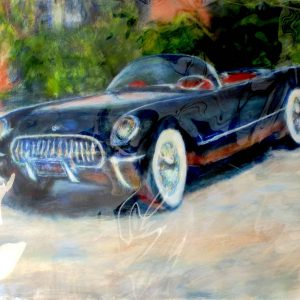 "CORVETTE 50's by Graydon Dyck, 38""x50"""