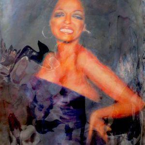 "DIANA ROSS #3 by Graydon Dyck, 38""x50"""