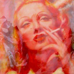 "MARLENE DIETRICH by Graydon Dyck, 38""x49"""