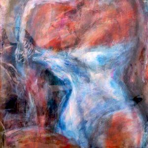 "#48 WHITE SLIPPIN' 1 of 3 by Graydon Dyck, 26""x48"""