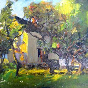 "FARMHOUSE by George Paginton, 16""x20"""