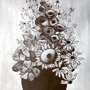 """FLOWER'S IN AN EARTHEN POT by Louise Magnuson, 18""""x24"""""""