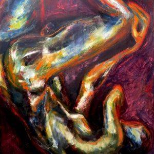 "THOUGHTS by Mattia Lapa, 46""x59"""