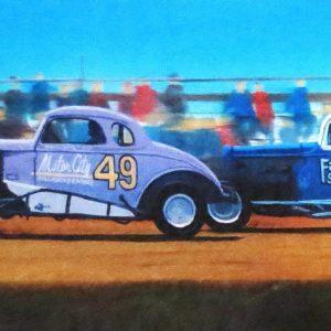 """CHECKER FLAG RACEWAY by Ronald Suchiu, 9""""x26.5"""""""