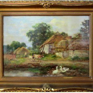 "Farmyard by Henry John Yeend King, 23.5""x17.5"""
