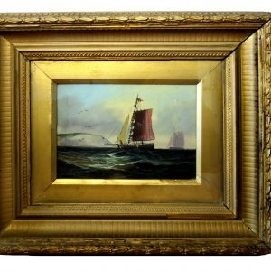 "Sailing Boats by George Chavignaud, 5.5""x7.5"""