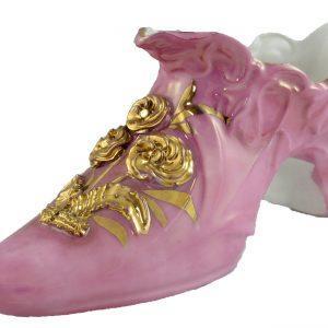 Victorian Decorative Shoes, Porcelain